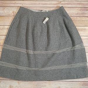 Madewell gray wool skirt